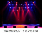 free stage with lights | Shutterstock . vector #411991123