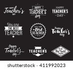 happy teachers day vector... | Shutterstock .eps vector #411992023
