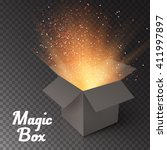 illustration of magic box with... | Shutterstock .eps vector #411997897