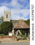 Small photo of WOODBASTWICK, NORFOLK/UK - April 19, 2013. The Parish Church of St Fabian & St Sebastian, Woodbastwick, Norfolk, England, UK