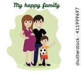 happy family  friendship... | Shutterstock .eps vector #411999697