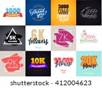 vector thanks design template... | Shutterstock .eps vector #412004623