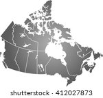 map of canada | Shutterstock .eps vector #412027873