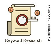 keyword research icon | Shutterstock .eps vector #412030483