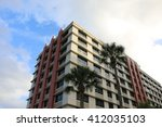 apartment house on the sky... | Shutterstock . vector #412035103