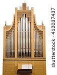 Wood Church Pipe Organ Isolate...