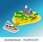 trip to summer holidays.... | Shutterstock .eps vector #412041157