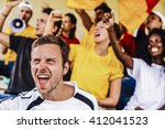 supporters from germany at... | Shutterstock . vector #412041523
