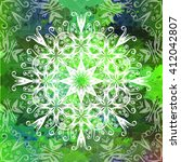 grunge watercolor green... | Shutterstock .eps vector #412042807