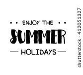 hello summer vector... | Shutterstock .eps vector #412051327