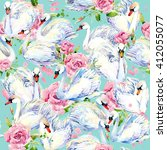Swan Seamless Pattern....