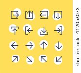 abstract vector arrow pictogram ... | Shutterstock .eps vector #412056073
