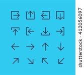 abstract vector arrow pictogram ... | Shutterstock .eps vector #412056097