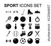 sport icons set. silhouette... | Shutterstock .eps vector #412066837