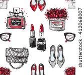 vector hand drawn graphic... | Shutterstock .eps vector #412068007
