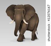 african elephant 2 | Shutterstock .eps vector #412076167