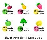 fruits and berries vector... | Shutterstock .eps vector #412083913
