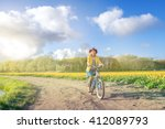 cycling in the countryside  ... | Shutterstock . vector #412089793