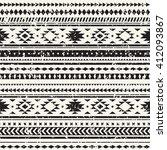 aztec seamless pattern.... | Shutterstock .eps vector #412093867