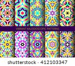 set of colorful kaleidoscope... | Shutterstock .eps vector #412103347