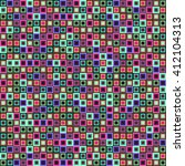 pattern with squares. geometric ... | Shutterstock .eps vector #412104313