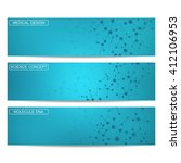 set of modern science banners   Shutterstock .eps vector #412106953