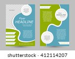 vector flyer template design.... | Shutterstock .eps vector #412114207
