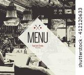 restaurant menu design. vector... | Shutterstock .eps vector #412120633