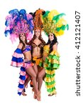 dancer team wearing carnival... | Shutterstock . vector #412121407