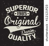 superior quality denim vector... | Shutterstock .eps vector #412121923
