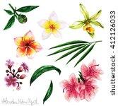 watercolor nature clipart  ... | Shutterstock . vector #412126033