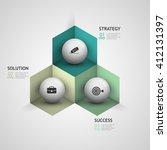 vector business chart 3d step... | Shutterstock .eps vector #412131397