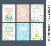 set of vector card templates... | Shutterstock .eps vector #412138267