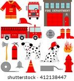 fire department clipart | Shutterstock .eps vector #412138447