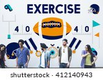 league sport fitness exercise... | Shutterstock . vector #412140943