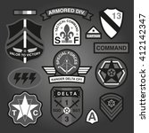 set of military and army... | Shutterstock .eps vector #412142347