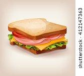 vector design of delicious... | Shutterstock .eps vector #412147363