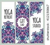 yoga ornamental gift...   Shutterstock .eps vector #412150867