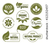 set of green labels and badges... | Shutterstock . vector #412152457