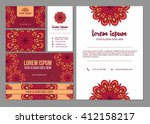 business card. brochure layout... | Shutterstock .eps vector #412158217
