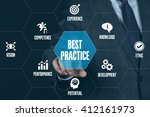 best practice technology... | Shutterstock . vector #412161973