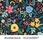 amazing floral pattern with... | Shutterstock .eps vector #412163047