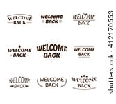 welcome back design collection. ... | Shutterstock .eps vector #412170553