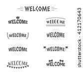 set of vintage style welcome... | Shutterstock .eps vector #412170643