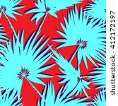 tropical leaves  dense jungle.... | Shutterstock .eps vector #412172197
