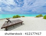 isolated beach paradise in bora ... | Shutterstock . vector #412177417