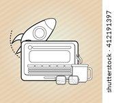 flat illustration about start... | Shutterstock .eps vector #412191397