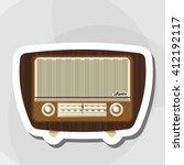 colorful retro radio design ... | Shutterstock .eps vector #412192117