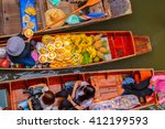damnoen saduak floating market... | Shutterstock . vector #412199593