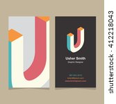 "logo alphabet letter ""u""  with... 